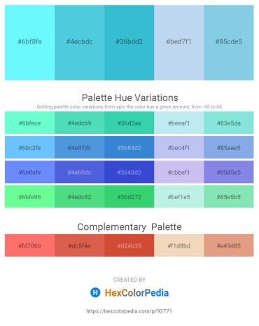 Palette image download - Aquamarine – Medium Turquoise – Medium Turquoise – Pale Turquoise – Sky Blue