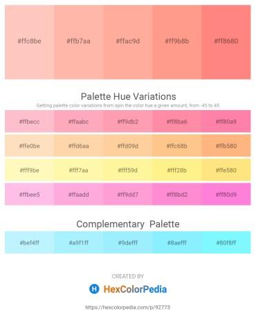 Palette image download - Pink – Light Pink – Light Pink – Light Salmon – Light Salmon