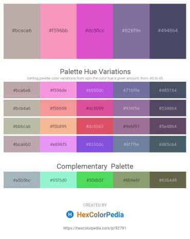 Palette image download - Dark Gray – Light Coral – Orchid – Light Slate Gray – Beige
