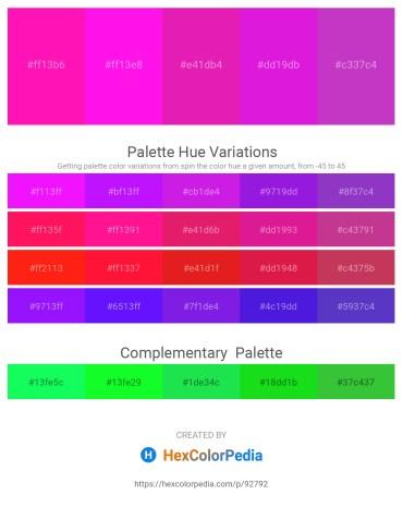 Palette image download - Deep Pink – Magenta – Medium Violet Red – Magenta – Medium Orchid