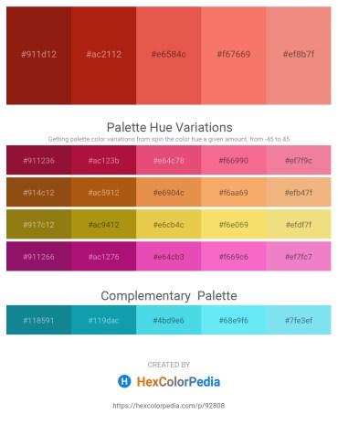 Palette image download - Saddle Brown – Firebrick – Chocolate – Salmon – Light Coral