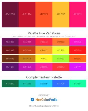 Palette image download - Aquamarine – Crimson – Tomato – Gold – Deep Pink