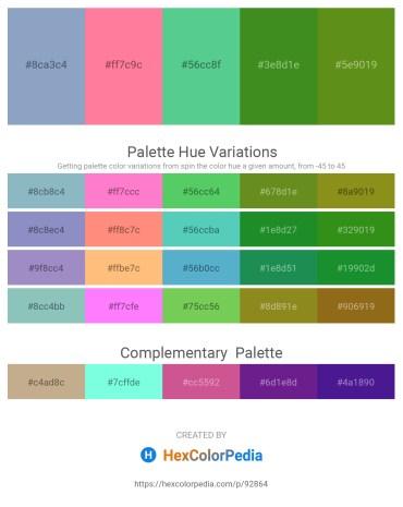 Palette image download - Light Steel Blue – Hot Pink – Medium Aquamarine – Forest Green – Olive Drab