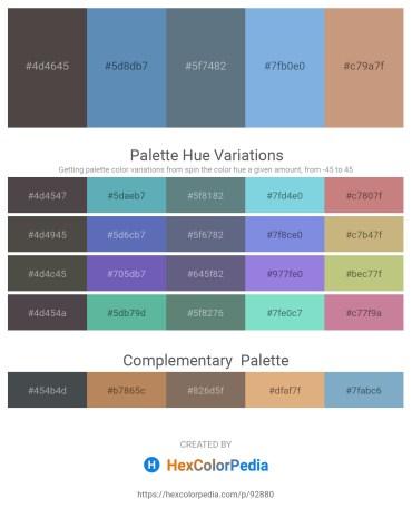 Palette image download - Dim Gray – Steel Blue – Slate Gray – Sky Blue – Tan