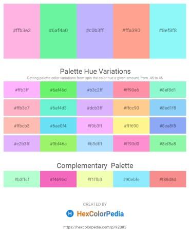 Palette image download - Pink – Pale Green – Plum – Light Salmon – Light Sky Blue