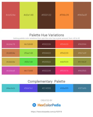 Palette image download - Indian Red – Yellow Green – Olive Drab – Coral – Sienna