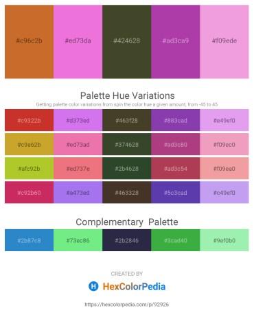 Palette image download - Chocolate – Violet – Dark Olive Green – Orchid – Violet