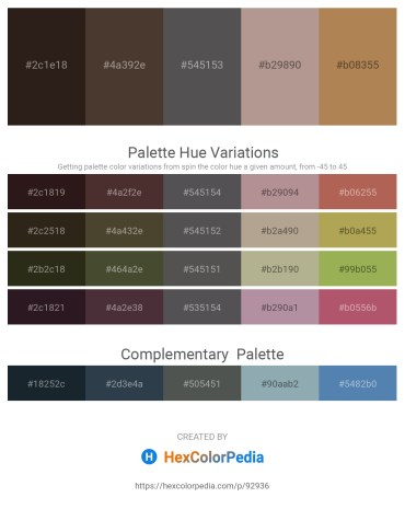 Palette image download - Midnight Blue – Orchid – Dim Gray – Rosy Brown – Sandy Brown
