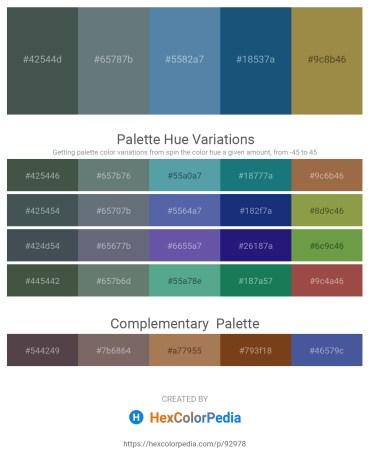 Palette image download - Dark Slate Gray – Slate Gray – Cadet Blue – Violet – Dark Khaki