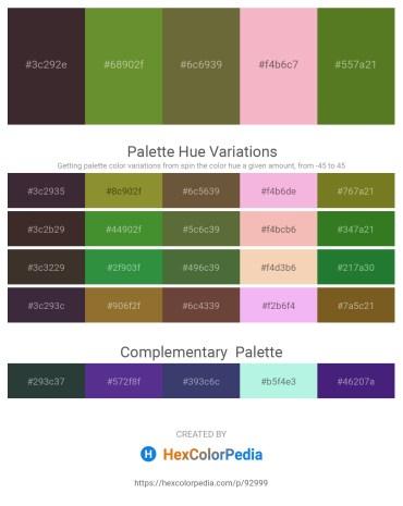 Palette image download - Black – Olive Drab – Dark Olive Green – Blue Violet – Olive Drab