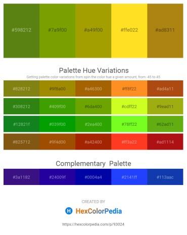 Palette image download - Olive Drab – Olive – Olive – Gold – Dark Goldenrod