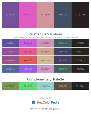 Palette image download - Dark Slate Blue – Orchid – Dark Gray – Dark Slate Gray – Black