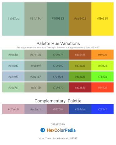 Palette image download - Light Steel Blue – Dark Sea Green – Cadet Blue – Dark Slate Gray – Gold