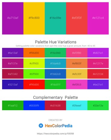 Palette image download - Dark Violet – Gold – Light Sea Green – Crimson – Medium Violet Red