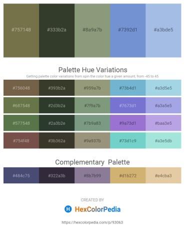 Palette image download - Dark Olive Green – Dark Olive Green – Dark Sea Green – Slate Blue – Light Blue
