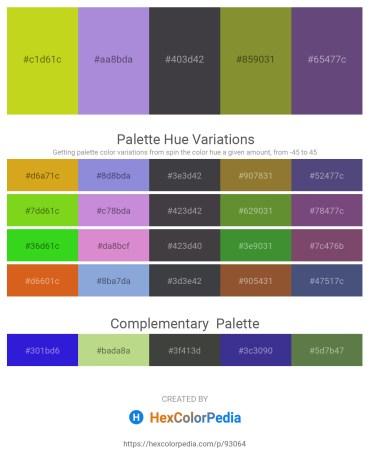 Palette image download - Light Blue – Medium Purple – Dark Slate Gray – Olive Drab – Dark Slate Blue