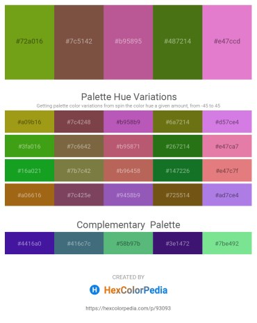 Palette image download - Olive Drab – Sea Green – Indian Red – Olive Drab – Orchid