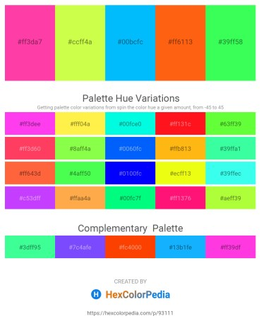 Palette image download - Deep Pink – Green Yellow – Deep Sky Blue – Orange Red – Spring Green