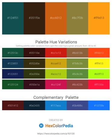 Palette image download - Midnight Blue – Sky Blue – Chocolate – Dark Olive Green – Orange