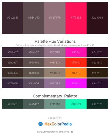 Palette image download - Black – Dim Gray – Gray – Deep Pink – Rosy Brown