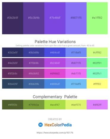 Palette image download - Dark Slate Blue – Dark Slate Blue – Blue Violet – Medium Slate Blue – Pale Green