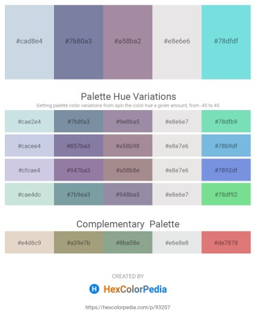 Palette image download - Light Steel Blue – Light Slate Gray – Rosy Brown – Gainsboro – Sky Blue