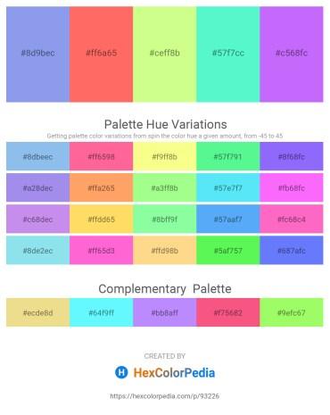 Palette image download - Cornflower Blue – Coral – Pale Green – Aquamarine – Medium Slate Blue