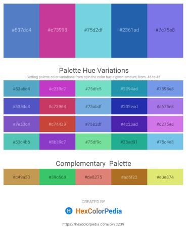 Palette image download - Steel Blue – Pale Violet Red – Sky Blue – Royal Blue – Medium Slate Blue