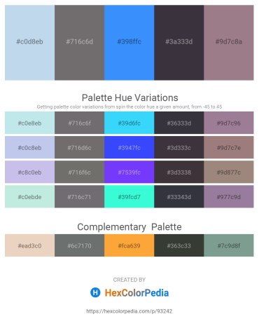 Palette image download - Light Blue – Dim Gray – Dodger Blue – Light Slate Gray – Gray