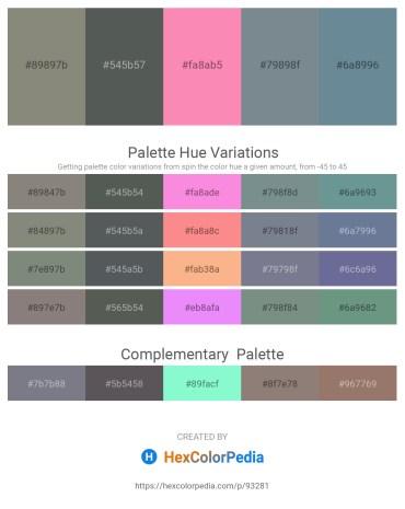 Palette image download - Gray – Dark Slate Gray – Hot Pink – Slate Gray – Light Slate Gray