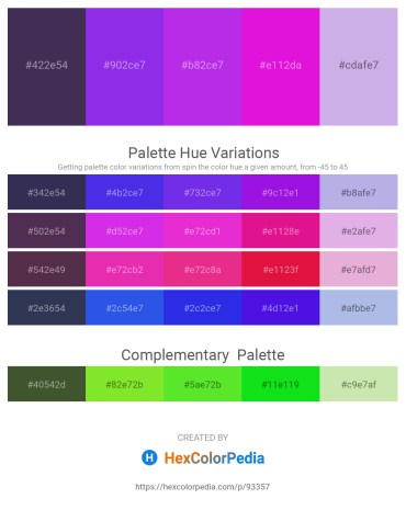 Palette image download - Dark Slate Blue – Blue Violet – Blue Violet – Magenta – Light Steel Blue