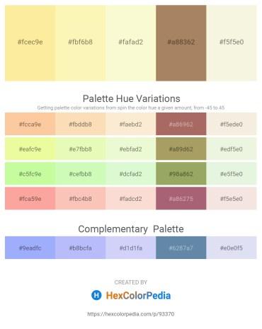 Palette image download - Navajo White – Light Goldenrod Yellow – Light Goldenrod Yellow – Rosy Brown – Beige