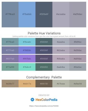 Palette image download - Light Slate Gray – Sky Blue – Slate Gray – Light Slate Gray – Light Slate Gray