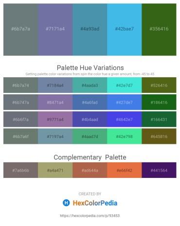 Palette image download - Slate Gray – Light Slate Gray – Steel Blue – Dark Slate Gray – Forest Green