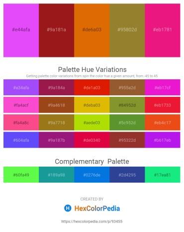 Palette image download - Blue Violet – Firebrick – Dark Orange – Dark Khaki – Medium Violet Red