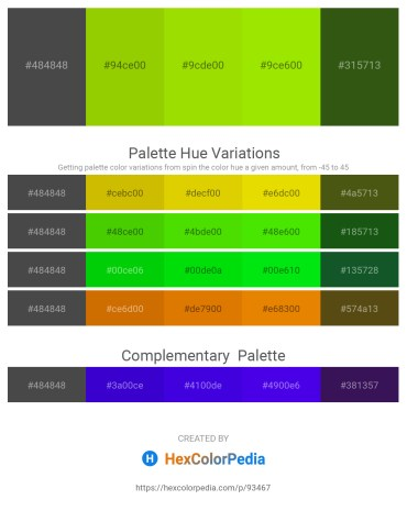 Palette image download - Dim Gray – Lawn Green – Lawn Green – Chartreuse – Forest Green