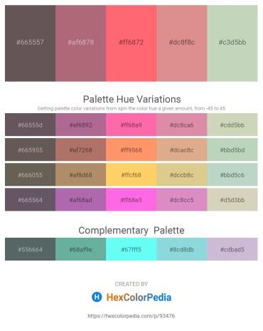 Palette image download - Dim Gray – Rosy Brown – Salmon – Pale Violet Red – Dark Sea Green
