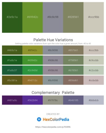 Palette image download - Forest Green – Olive Drab – Light Slate Gray – Gray – Silver