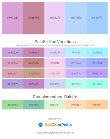 Palette image download - Plum – Rosy Brown – Lavender – Light Sky Blue – Light Sky Blue