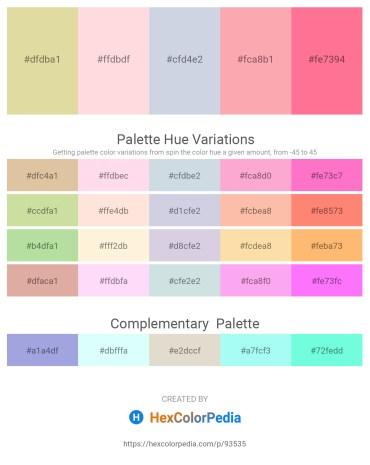 Palette image download - Tan – Misty Rose – Light Steel Blue – Light Pink – Hot Pink