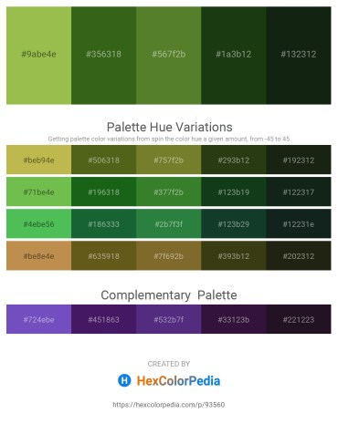 Palette image download - Yellow Green – Forest Green – Dark Olive Green – Dark Sea Green – Dark Slate Gray
