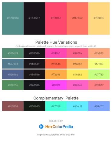Palette image download - Cadet Blue – Black – Tomato – Coral – Navajo White