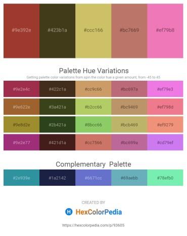 Palette image download - Brown – Dark Olive Green – Dark Khaki – Indian Red – Violet
