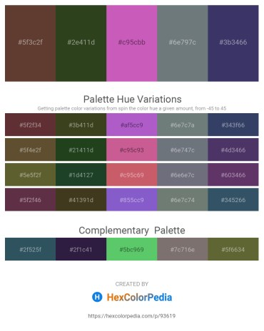 Palette image download - Sienna – Dark Olive Green – Orchid – Slate Gray – Dark Slate Blue