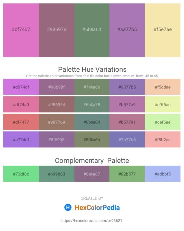Palette image download - Orchid – Gray – Cadet Blue – Light Slate Gray – Wheat