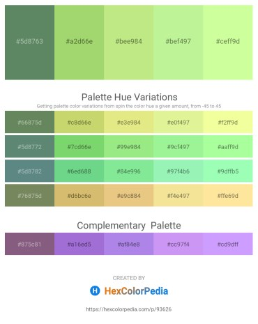Palette image download - Cadet Blue – Yellow Green – Light Green – Light Green – Pale Green