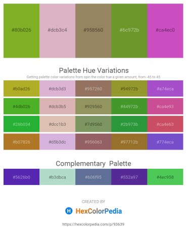 Palette image download - Olive Drab – Plum – Gray – Olive Drab – Orchid