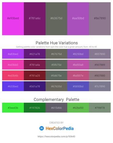 Palette image download - Blue Violet – Light Sea Green – Dim Gray – Medium Orchid – Slate Gray