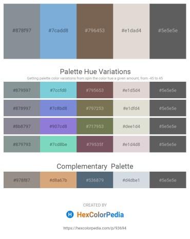 Palette image download - Light Slate Gray – Sky Blue – Dim Gray – Gainsboro – Dim Gray