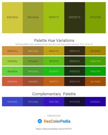 Palette image download - Yellow Green – Yellow Green – Slate Blue – Dark Olive Green – Olive
